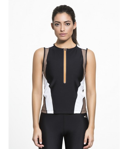 Carbon38 Martine Curve Mesh Vest