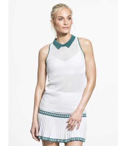 Carbon38 Mesh Knit Collar Halter Top