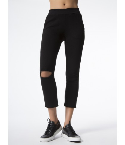 Carbon38 Malibu Knee Slit Pant