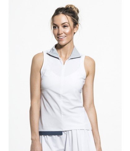 Carbon38 Zip Front Polo