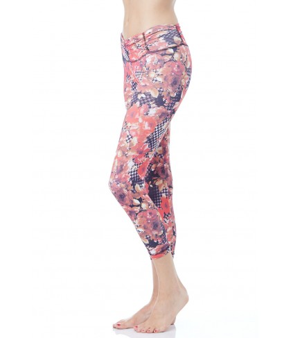 Balance Fit Wear Red Flower Legging