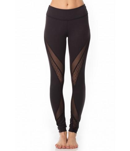 Beyond Yoga Polka Dot Mesh Converged Long Legging