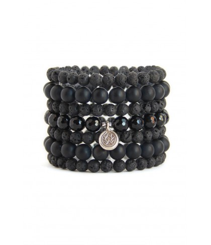 Blooming Lotus Jewelry Black Lotus Stack Bracelet