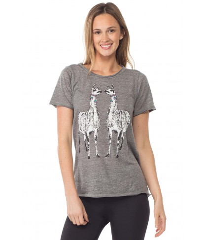 Chaser Llama Love Triblend Short Sleeve Crew Tee