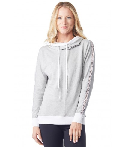 Chichi Active Audrey Hooded Sweatshirt w/ Mesh
