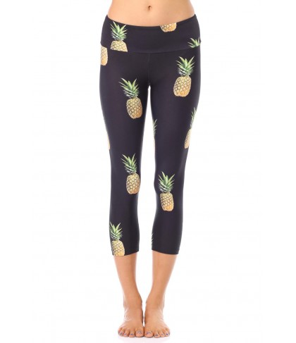 Goldsheep Pineapple Party Capri Legging