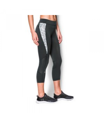 Under Armour Women's  HeatGear Armour Print Inset Crop