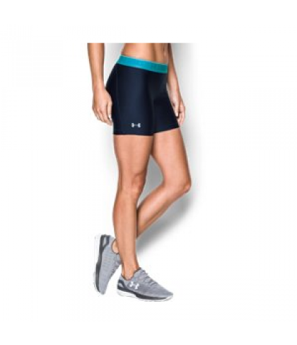 "Under Armour Women's  HeatGear Armour 5"" - Shine waistband Shorts"