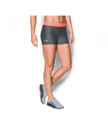 "Under Armour Women's  HeatGear Armour 3"" - Shine waistband Shorts"