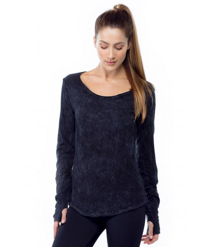 LVR Long Sleeve Scoop Neck w/ Thumbholes